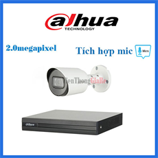 Trọn Bộ 1 Camera 2.0mp  DAHUA CMR1-1200TPA