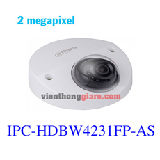 Camera IP Dome hồng ngoại 2.0 Megapixel DAHUA IPC-HDBW4231FP-AS