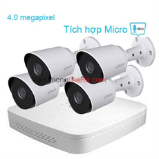 Trọn Bộ 4 Camera 4.0MP DAHUA CMR4-1400TPA