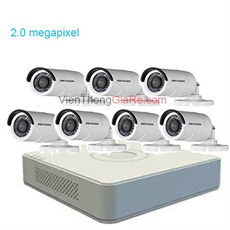 Trọn bộ 7 camera HIKvision CMR-716D0T-IRP