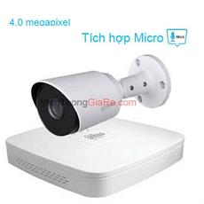 Trọn Bộ 1 Camera 4.0MP DAHUA CMR-1400TPA
