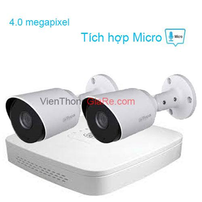 Trọn Bộ 2 Camera 4.0MP DAHUA CMR2-1400TPA
