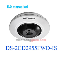Camera IP Fisheye hồng ngoại 5.0 Megapixel HIKVISION DS-2CD2955FWD-IS