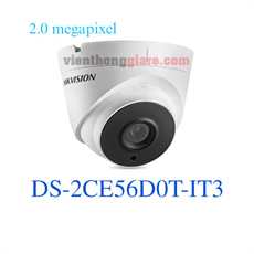 Camera HD-TVI Dome hồng ngoại 2.0 Megapixel HIKVISION DS-2CE56D0T-IT3
